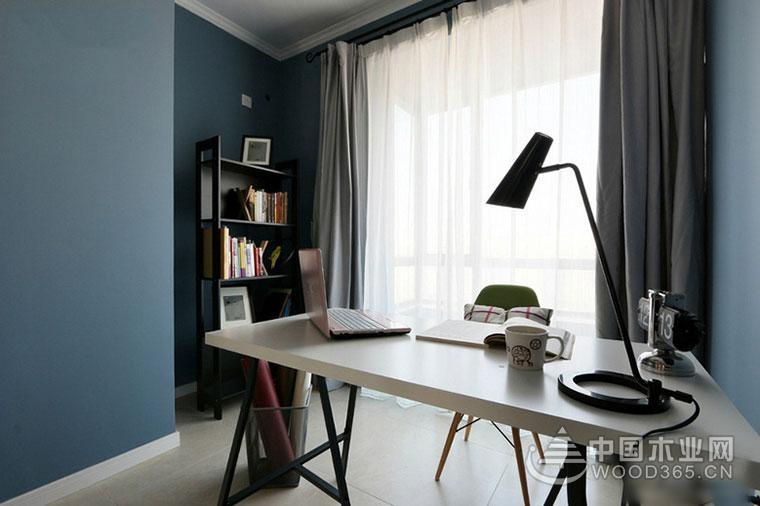 简约美式风格,90平米三室两厅装修效果图