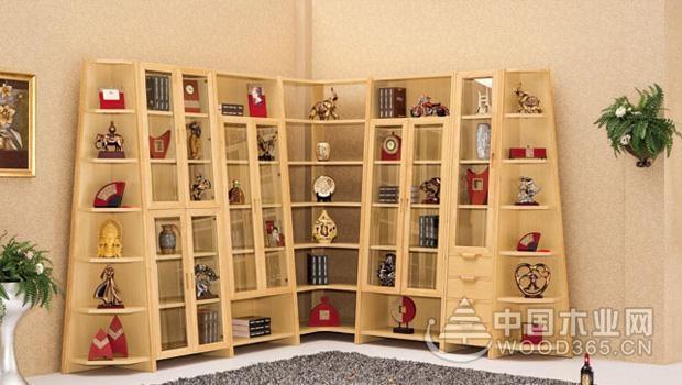 书房摆放实木转角书柜好不好