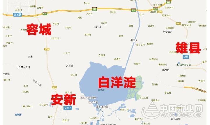 雄安离北京地图
