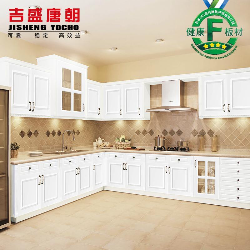 家庭装修中,简欧式风格的吸塑橱柜门最为常见.