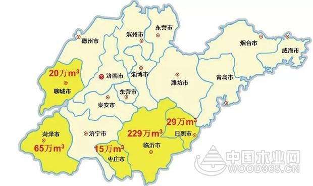 山东省刨花板生产线及产能分布概况