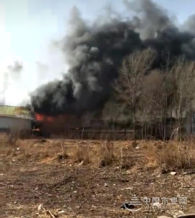 河北邢台一家具厂突发大火 损失惨重