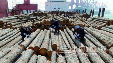 2018年一季度中国原木进口量1438万立方米