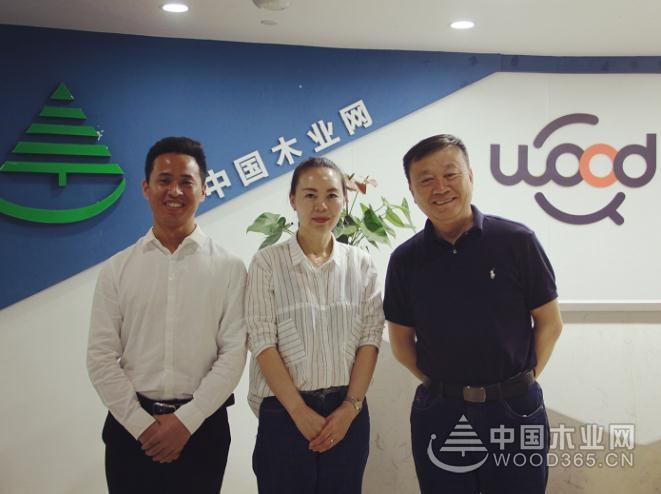 携手共进 芦花板材董事长张丙坤到访中国木业网