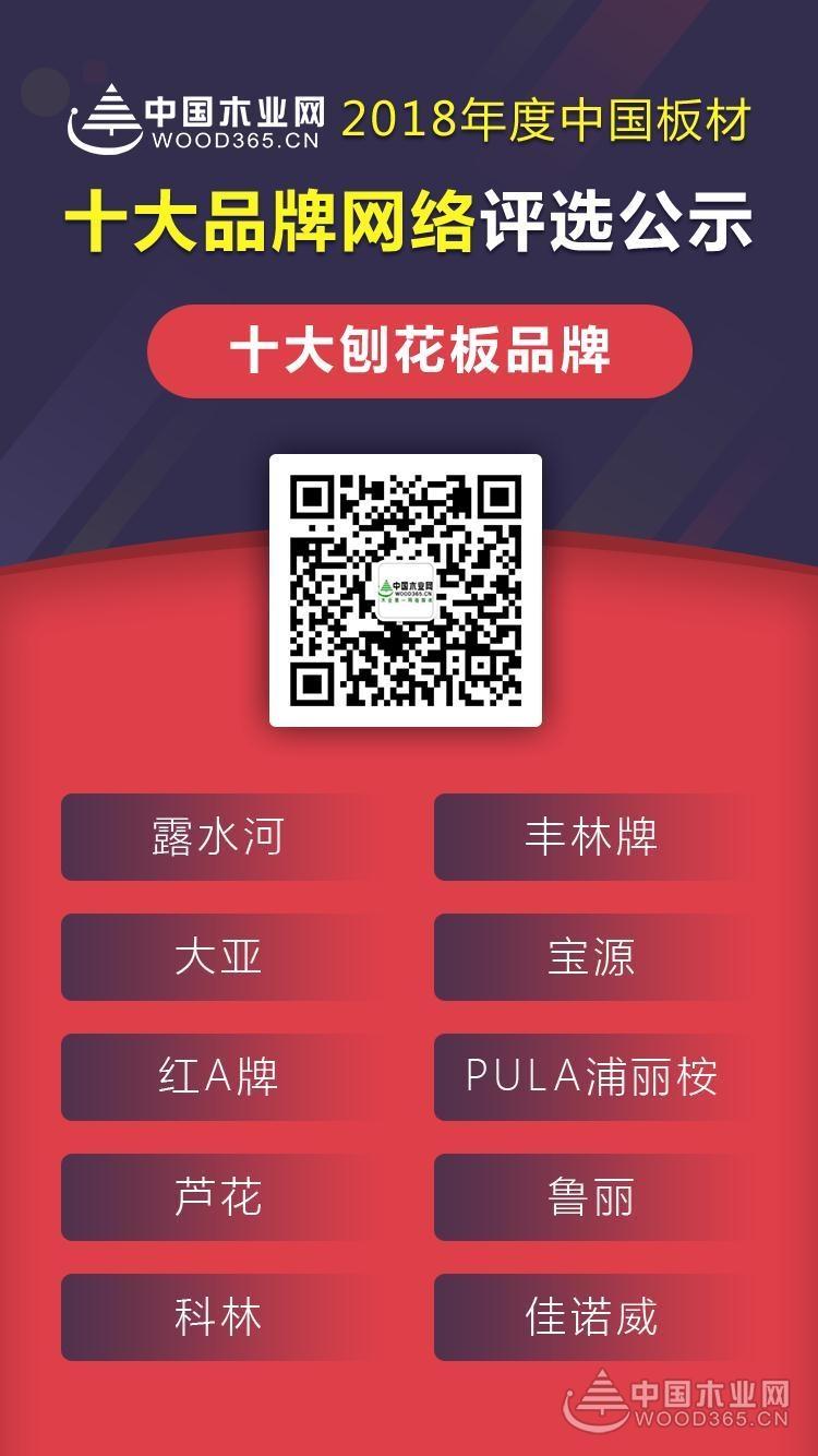 实力铸就荣誉——2018中国板材十大刨花板品牌!