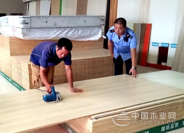 淮南工商开展流通领域板材质量随机抽检