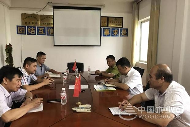崇左市领导调研广西山圩产业园木业企业