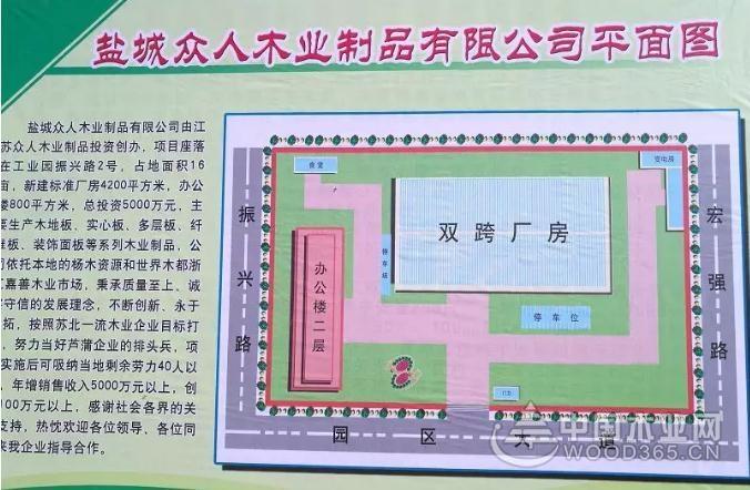 江苏阜宁芦蒲镇众人木业举行开工庆典仪式