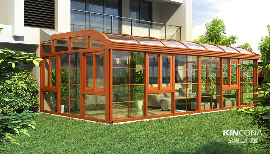 断桥铝型材和铝包木型材哪个适合做阳光房?
