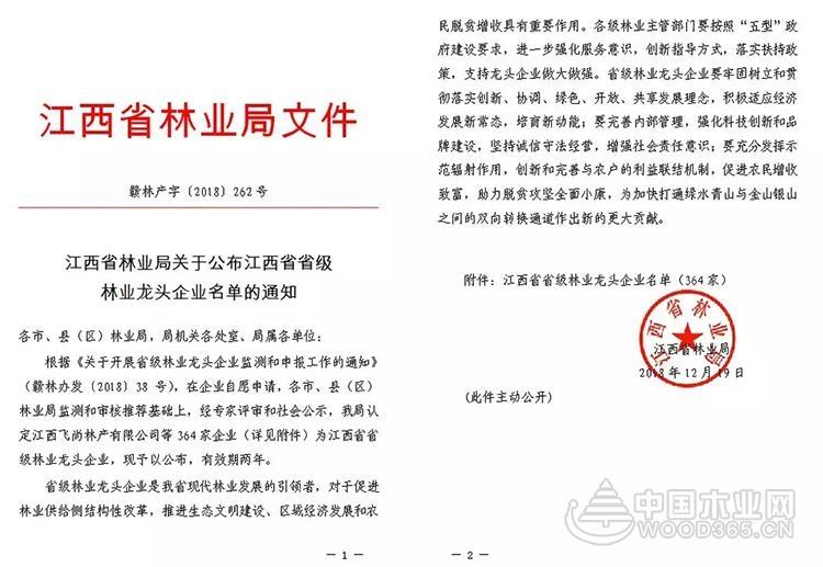 南康11家家具企业被认定为省级林业龙头企业