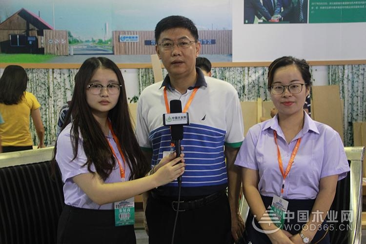 尊宝娱乐采访中航林业副总经理姚劲松