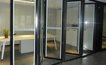 玻璃折叠门的材质介绍