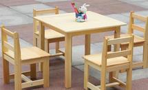 三种材质的儿童桌椅介绍
