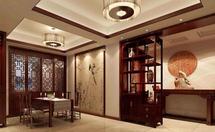 中式博古架隔断设计