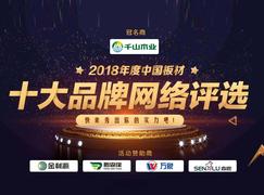 实力铸就荣誉——2018中国板材十大消费者信赖品牌!