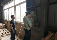 安徽池州一家木材厂存在重大消防隐患被强制查封
