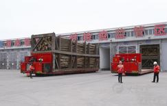 大丰港对进口木材进行熏蒸除害