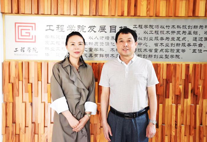 技术?#31185;?科技创新 中国木业网走进浙江农林大学