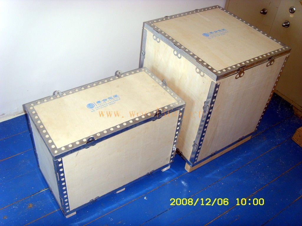 主营 大连各类国内 国外木制包装箱 包装箱 钢边箱 围板箱 托盘 大型包