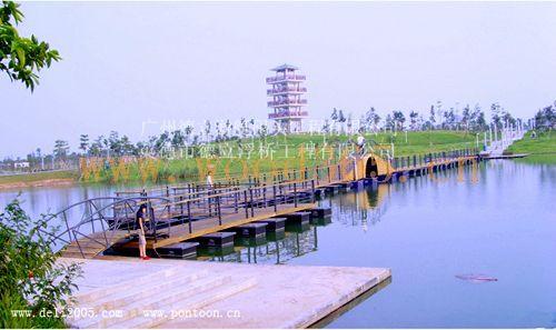 广州南沙海滨公园景观浮桥,景观拱桥
