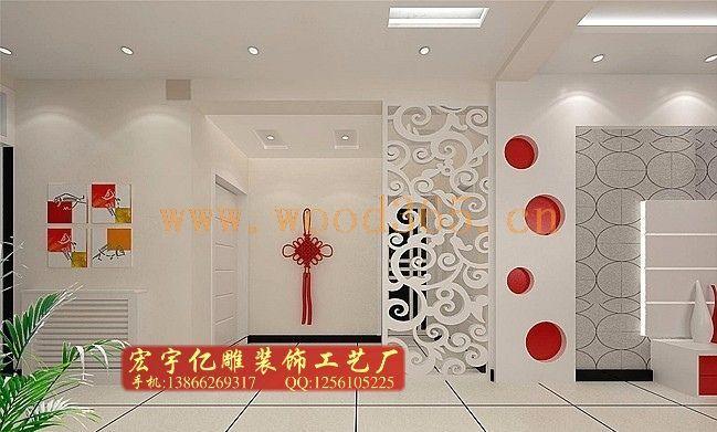 艺术通花板、镂空雕花隔断、屏风、背景墙、玄关、灯池、顶罩、落地罩、窗花、角花、工艺线条等;是采用密度板、实木板、实木集成板、压克力、PVC板、有机镜面板、铝塑板等;经镂空、雕刻、修边、细饰制作而成的具有古典与现代艺术相结合的时尚工艺。 产品广泛应用于宾馆、会所、园林、茶楼、商场、歌舞厅、度假村、别墅、家居装饰等工程。
