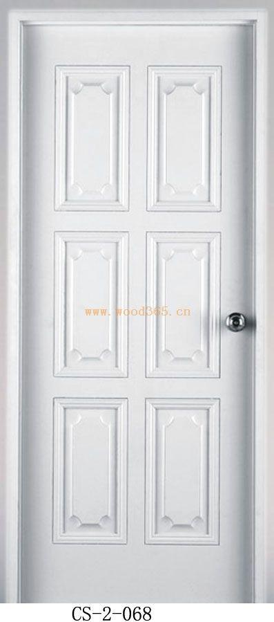 创升实木复合白漆门,室内高档门,烤漆门
