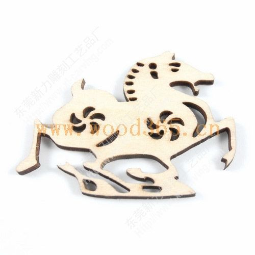 激光雕刻木质工艺品/十二生肖之马