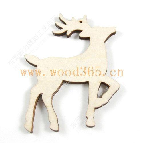 激光雕刻木质工艺品/动物图像激光雕刻