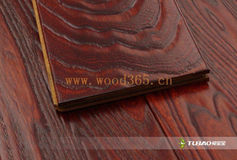 供应兔宝宝实木复合地板:特色仿古系列-榆木TBY-405