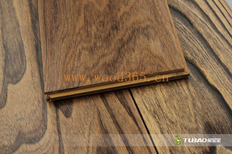供应兔宝宝实木复合地板:特色仿古系列-榆木TBY-407