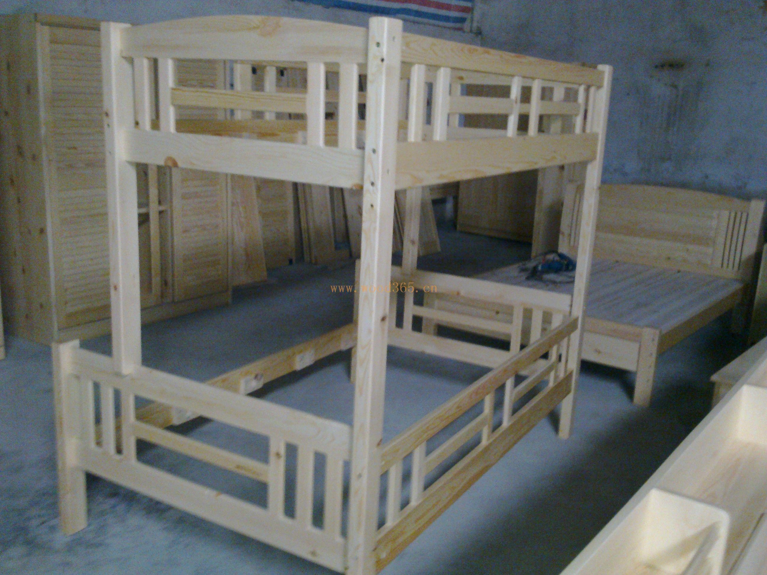 松木家具 实木工字型子母床
