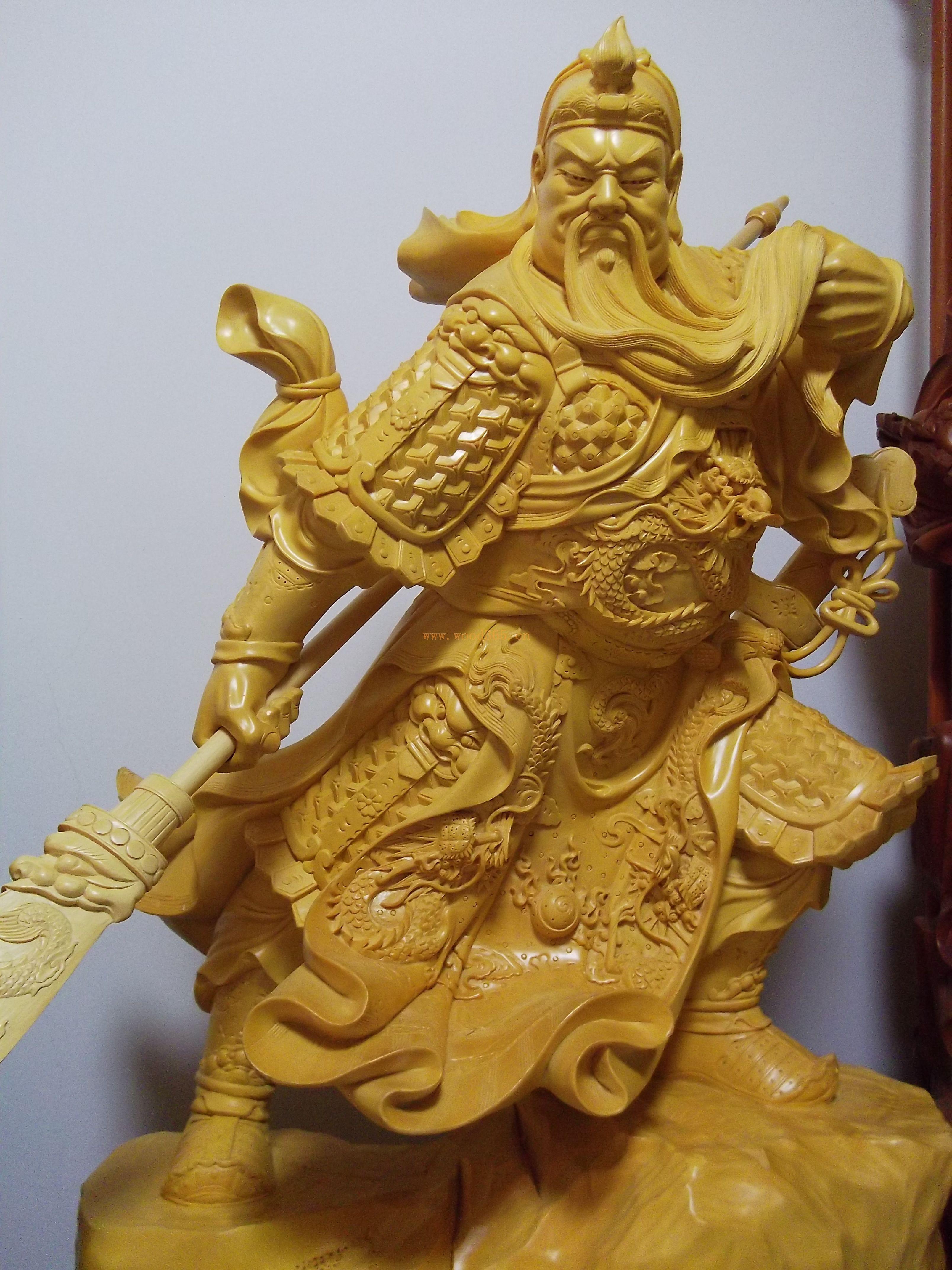 【沉檀汇】香榧木关公 木雕根雕工艺摆件