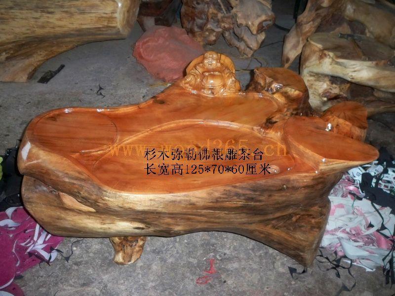 销售杉木根雕茶具茶盘