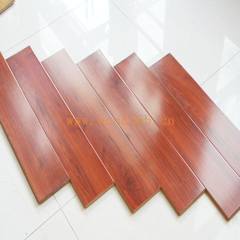 森腾欧洲红梨h728 12mm欧式富贵红沙比利强化复合木地板