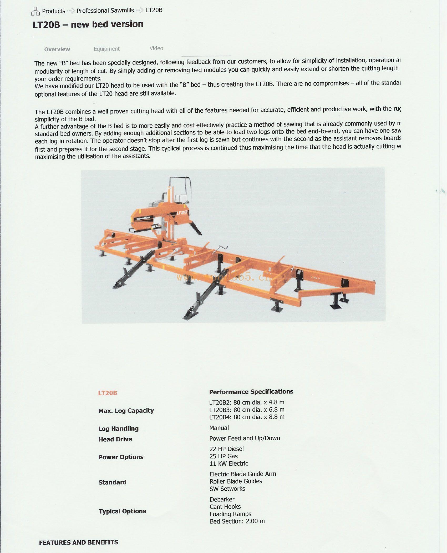 美国惜木LT20可移动带锯机