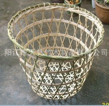 竹编织菜笠 菜箩 水果箩筐笠