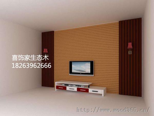 生态木电视背景墙_生态木背景效果图