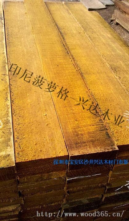 应印尼菠萝格 园林木地板 实木家具板