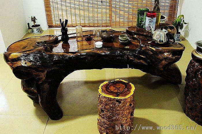 茶几餐桌办公桌茶桌书桌树墩椅子凳子实木原木整圆栆