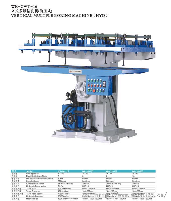 立式多轴钻孔机(油压式)图片