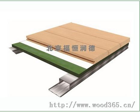 运动实木地板,羽毛球馆木地板,铝合金龙骨抗变形地暖运动木地板