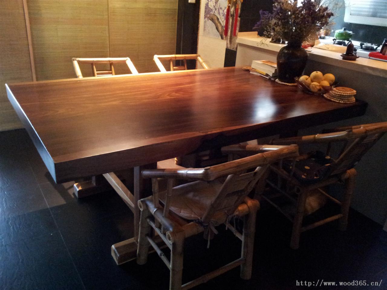 原木大板 奥坎波罗格实木红木大板桌茶几茶桌餐桌办公桌