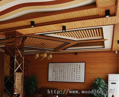 生态木绿可木195长城板吊顶效果图