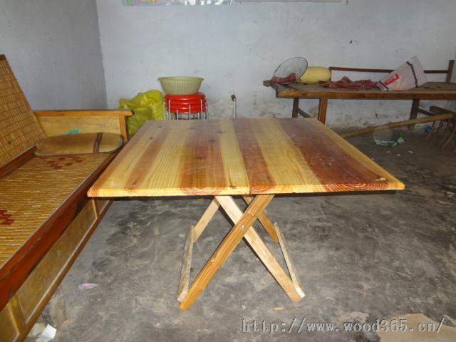 常年大量批发杉木折叠桌圆桌(实木)