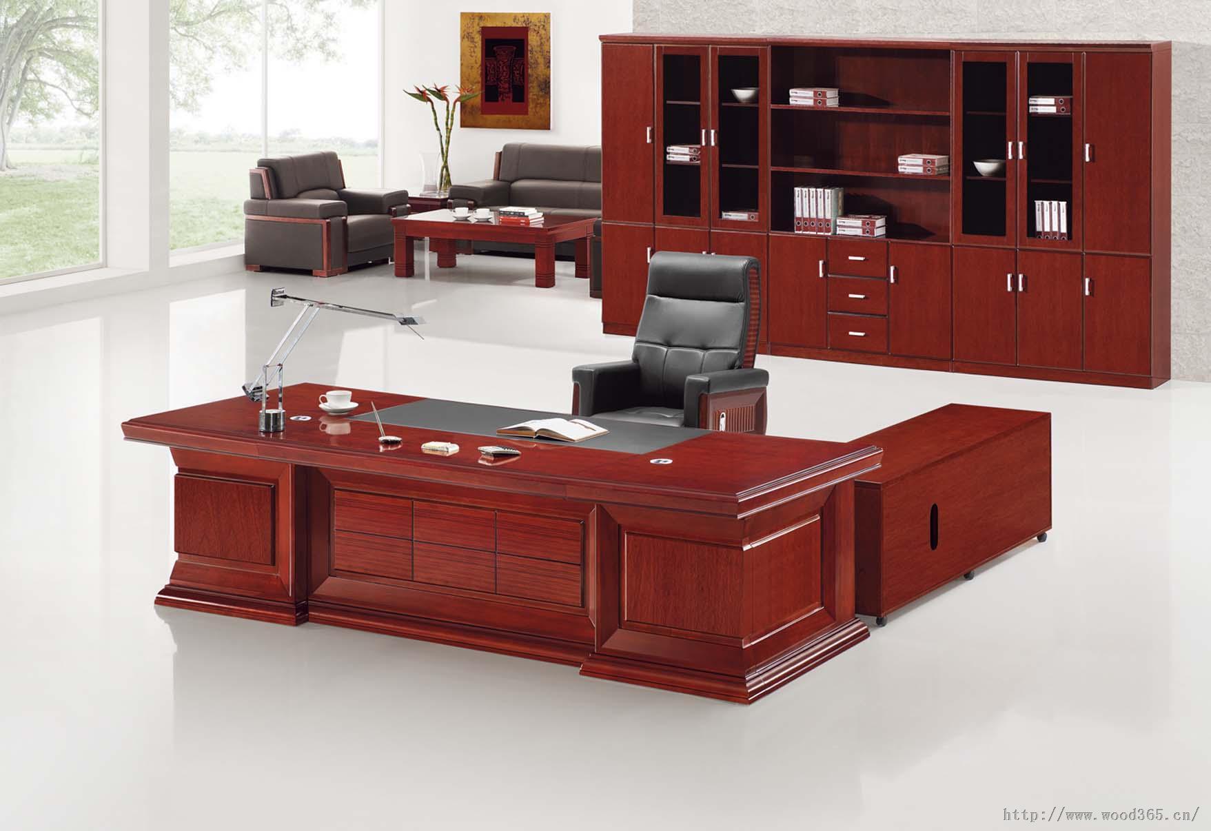 廊坊胜芳实木办公家具办公桌电脑桌
