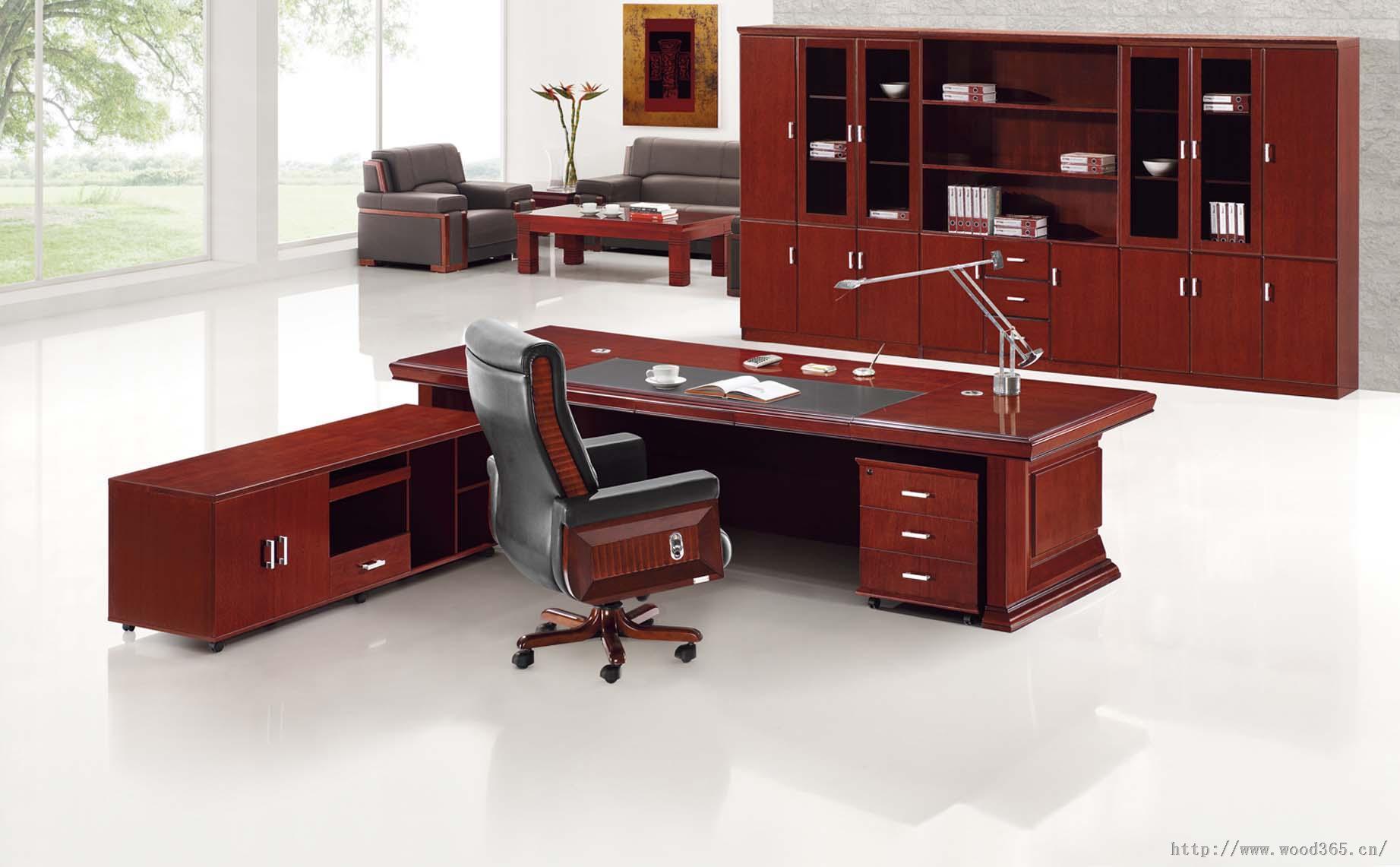福建马尾实木办公家具办公桌电脑桌图片