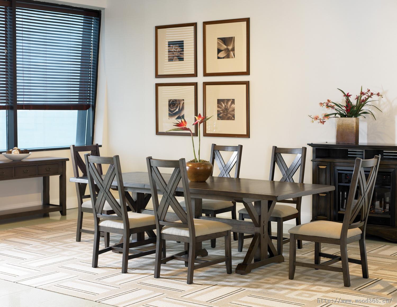 白橡木家具 美式餐桌椅