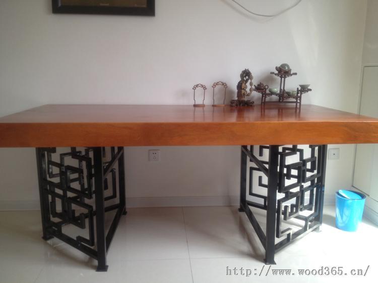 大班桌老板台办公桌非洲黄花梨老板桌实木大班台原木画案茶桌茶台