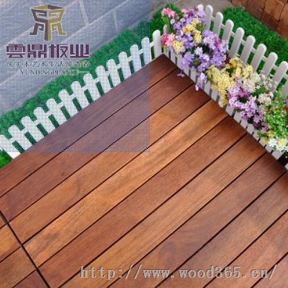 云鼎板材菠萝格地板户外地板防腐木阳台地板 拼花地板