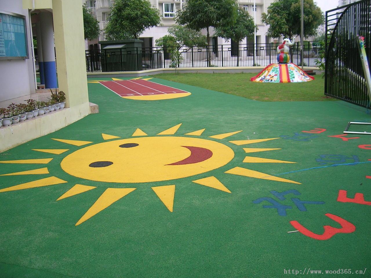 幼儿园场地铺装 幼儿园活动场地 幼儿园场地设计 幼儿